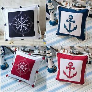 Mediterranean-Decorative-Ocean-Nautical-Throw-Pillow-Case-Cushion-Cover-IE