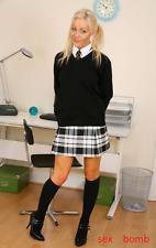 SEXY calze NERE Opache al ginocchio intimo lingerie erotica Fashion GLAMOUR !