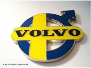 detailed look d8232 07c5a Image is loading Enamel-Chrome-Swedish-VOLVO-Emblem-Car-Badge-T5-