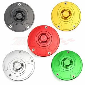 Fuel Gas Tank Cap Cover Key For Kawasaki Ninja ZX-6R ZX636 ZX600 ZX10R 2007-2015