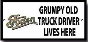 GRUMPY OLD FORD TRUCK OWNER LIVES HERE METAL SIGN.LORRIES,VINTAGE TRUCKS.