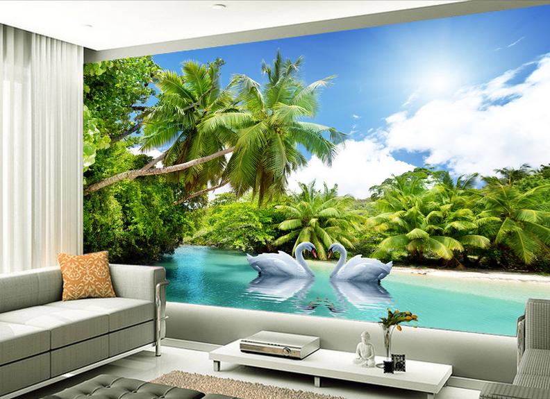 3D Pflanzen Schwanensee 864 Tapete Wandgemälde Tapete Tapeten Bild Familie DE  | Queensland  | Qualität und Verbraucher an erster Stelle  | Attraktive Mode