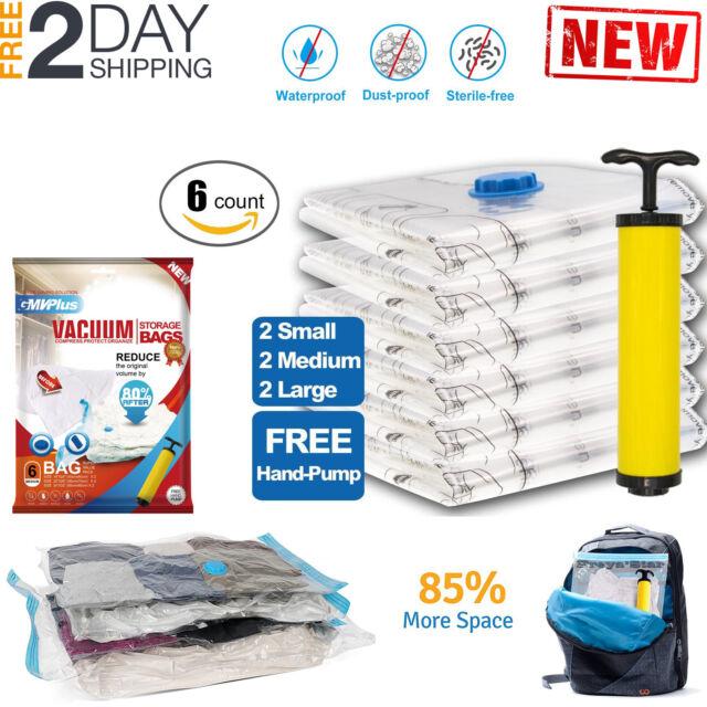Vacuum Storage Bags Seal E Saver Hoover Compression Clothes Air Sack