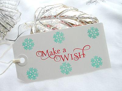 10 Make a Wish and Snowflakes  Christmas Gift Tags  Handmade