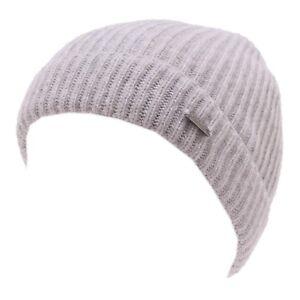 CUFFIA-Bimbo-Woolrich-Gris-Cashmere-Unisex-Sombrero-Nino