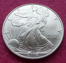 2004 SILVER EAGLE WALKING LIBERTY ONE DOLLAR 1oz BRILLIANT UNCIRCULATED COIN