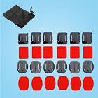 Accessory Kits 13 in 1 Flat Curved Adhesive Sticky Mount+Pouch Bag for Gopro