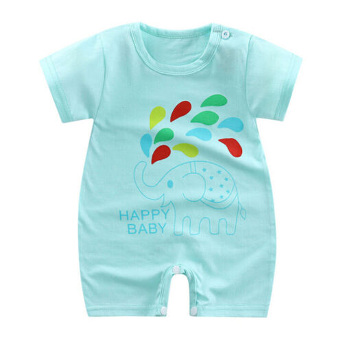 Newborn baby boy girls cotton bodysuits romper clothes cartoon jumpsuits a!