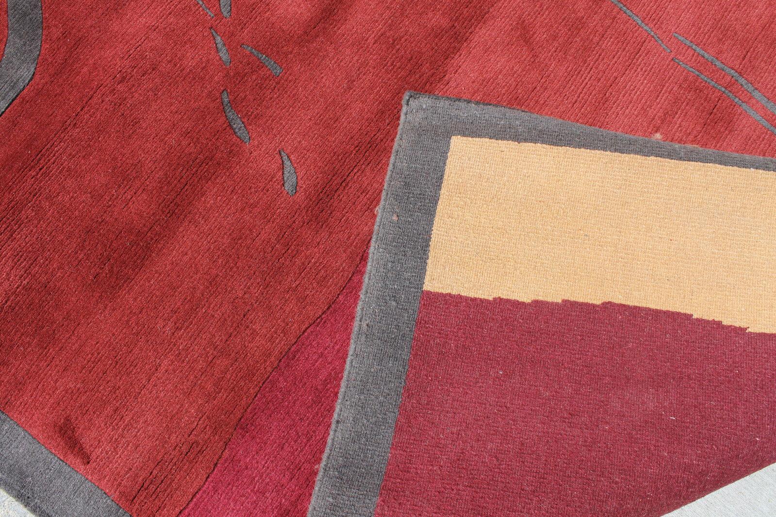 RSG1754 Gorgeous Contemporary Tibetan Woolen Area Rug 8' x x x 10' Made in Nepal 1fd690
