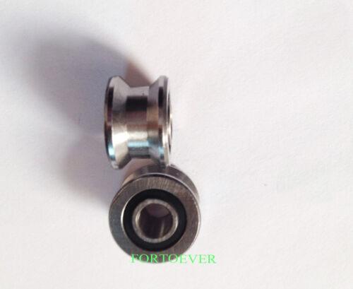 2pcs TU22 V-shaped flat track  groove Slip roller bearings 8*22.5*14.5*13.5mm