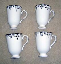 LENOX Federal Platinum Accent Tea Coffee Bone China Mug Mugs Cup Set of 4  NICE!