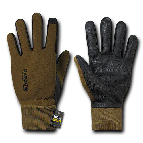 RapDom Flexible Touch-Screen Cuffed Winter Gloves Tactical Patrol Military