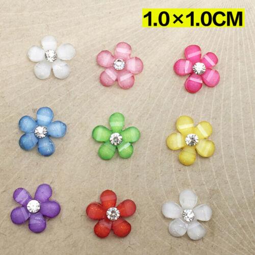 20//100X 10mm DIY Resin Flowers Flatback Scrapbooking for Phone//Wedding Crafts-VH