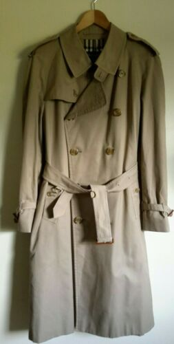 🍁BURBERRY BEIGE TRENCH Double Breasted VINTAGE MA
