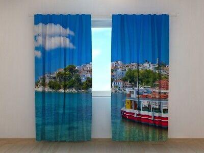 Bedroom Curtain Art Vincent van Gogh Starry Night Over the Rhone 3D Wellmira