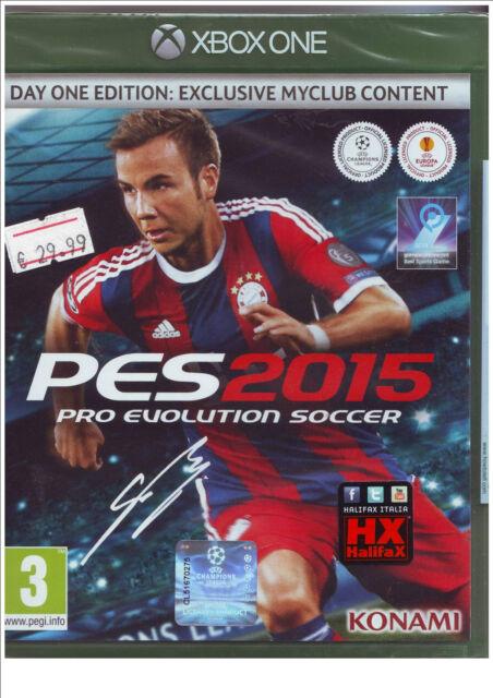 Xbox One PES 2015 Pro evolution Soccer 2015 Nuovo Originale e Sigillato Italiano