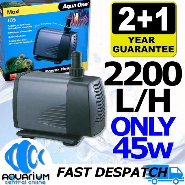 Aqua One Maxi 105 Powerhead Aquarium Fish Tank Pond Water Pump 2200L/H