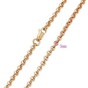 "9ct 9k /""Gold Filled/"" Rolled Gold Men Girl Belcher chain necklace Length.22"" Gift"