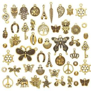 50Pcs-Set-Antique-Gold-Mixed-Styles-Pendants-DIY-Jewelry-for-Necklace-Making-M-Z