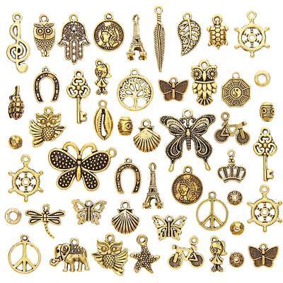 50 g Vintage Charms Pendentifs Mixed Styles Pour Bijoux À faire soi-même Making Accessoires