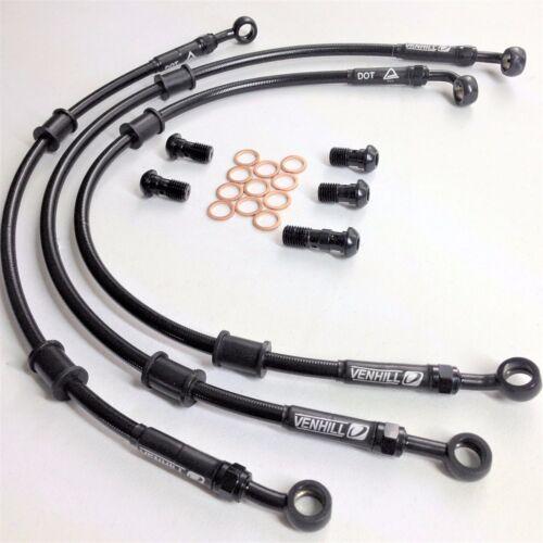 HONDA CB600F & FS HORNET 2000-03 VENHILL F&R braided brake lines ...