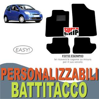 Auto: ricambi TAPPETINI tappeti auto su misura FIAT Uno neri con battitacco in gomma