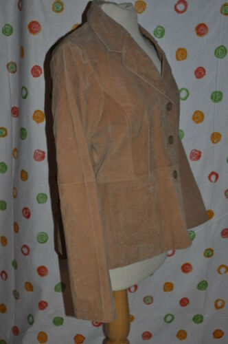 Outer Tailored Edge Career Brown Jacket Blazer Women's Xl Leather OqzOpxr