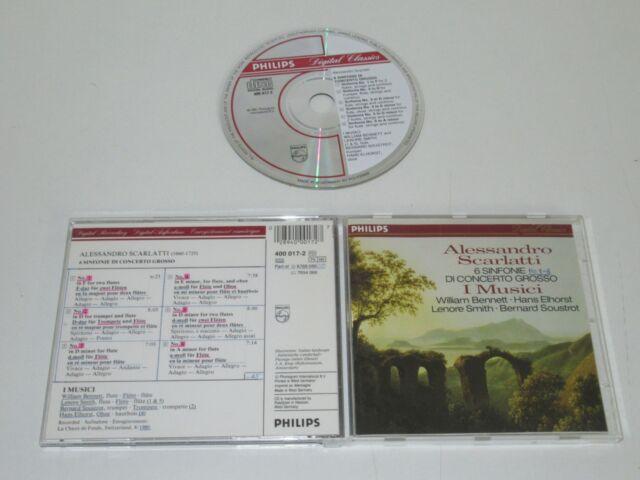 A. SCARLATTI/6 SINFONIE DI CONCERTO GROSSO/I MUSICI(PHILIPS 400 017-2) CD ALBUM