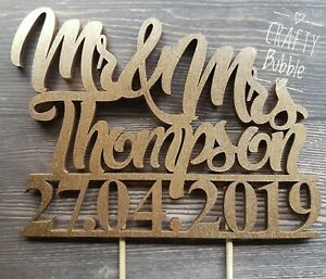 WOODEN-NOT-CARD-WEDDING-CAKE-TOPPER-PERSONALISED-NAME-AND-DATE-ANY-COLOUR