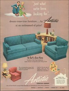 Amazing Details About 1951 Vintage Ad For Artistic Furniture Company Retro Sofa Chair Green 070719 Theyellowbook Wood Chair Design Ideas Theyellowbookinfo