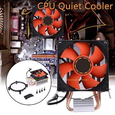 Fan CPU Cooler Double Heatpipe Radiator for Intel LGA775/1155/1156 AMD/AM2/AM2+
