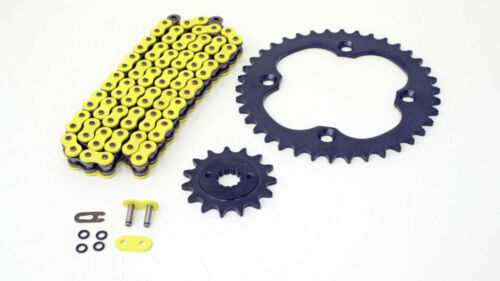 06-08 fit Suzuki LTR450 QuadRacer Yellow O-Ring Chain Silver Sprocket 13//38 100L