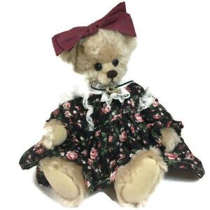 """Beth Little Women mohair bear Sersha Collectibles artist Serieta Harrell 13"""" J"""