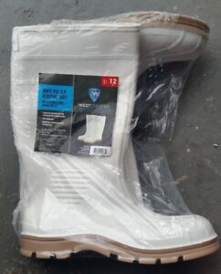 PVC Slip-Resistant Boots - White