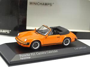 Minichamps 1/43 - Porsche 911 Carrera 1983 orange cabriolet