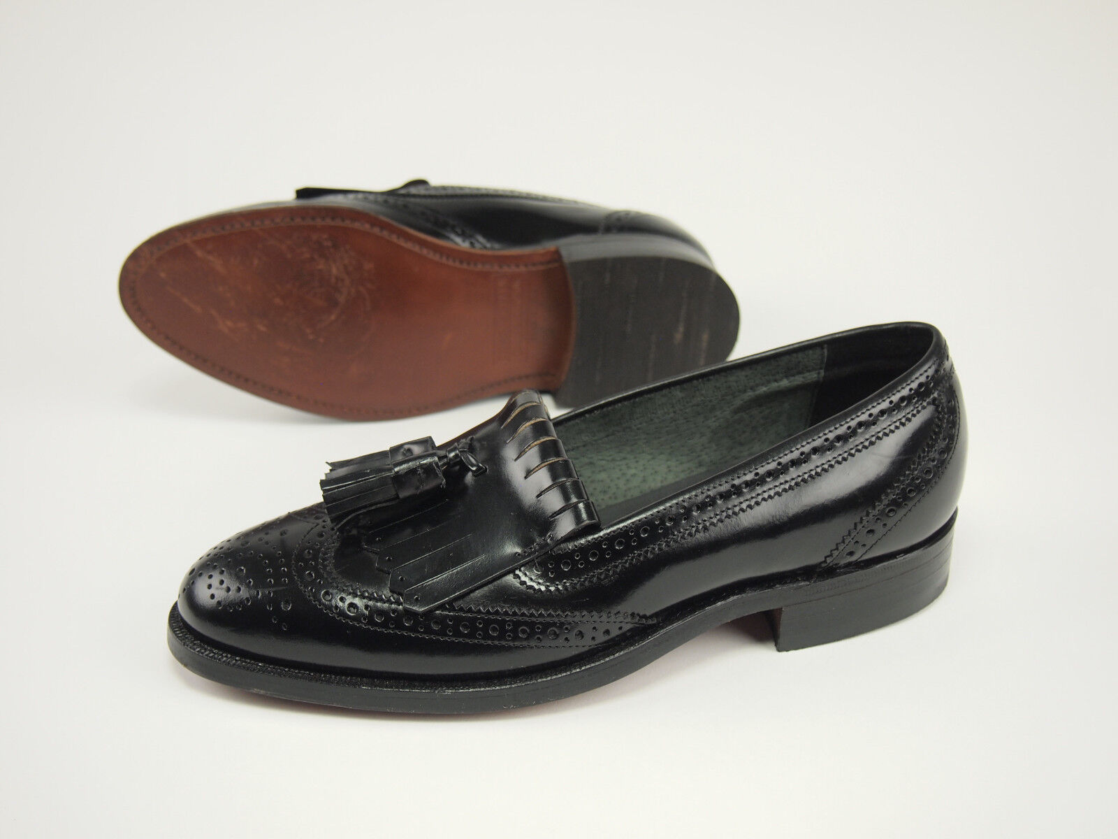 1980s STAFFORD Comfort Plus Vintage Vintage Vintage Wingtip Brogue Slip-on schuhe Loafer 6 - 6.5 5b3bca