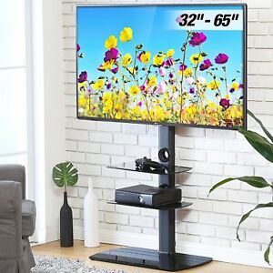 Floor Tv Stand With Swivel Mount Bracket For 32 To 65 Inch Samsung