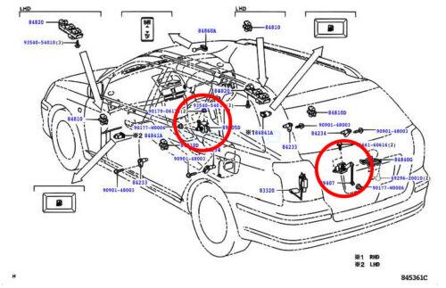 Leuchtweitensensor AFS Niveausensor Xenon Toyota Prius 89408-47010