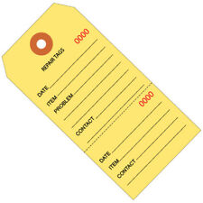 Yellow Repair Tags 4 34 X 2 38 Numbered 1000case