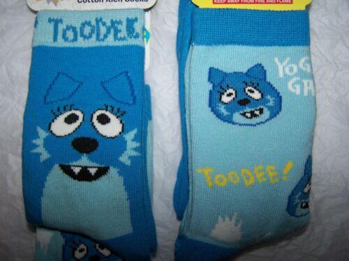 YO GABBA GABBA~TOODEE TODDLER CHILDREN SOCKS~PACKAGE OF 2 PAIR~U PICK SIZE~NIP