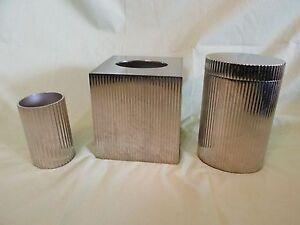 Restoration hardware bathroom accessory set chrome tissue for Restoration hardware bathroom accessories