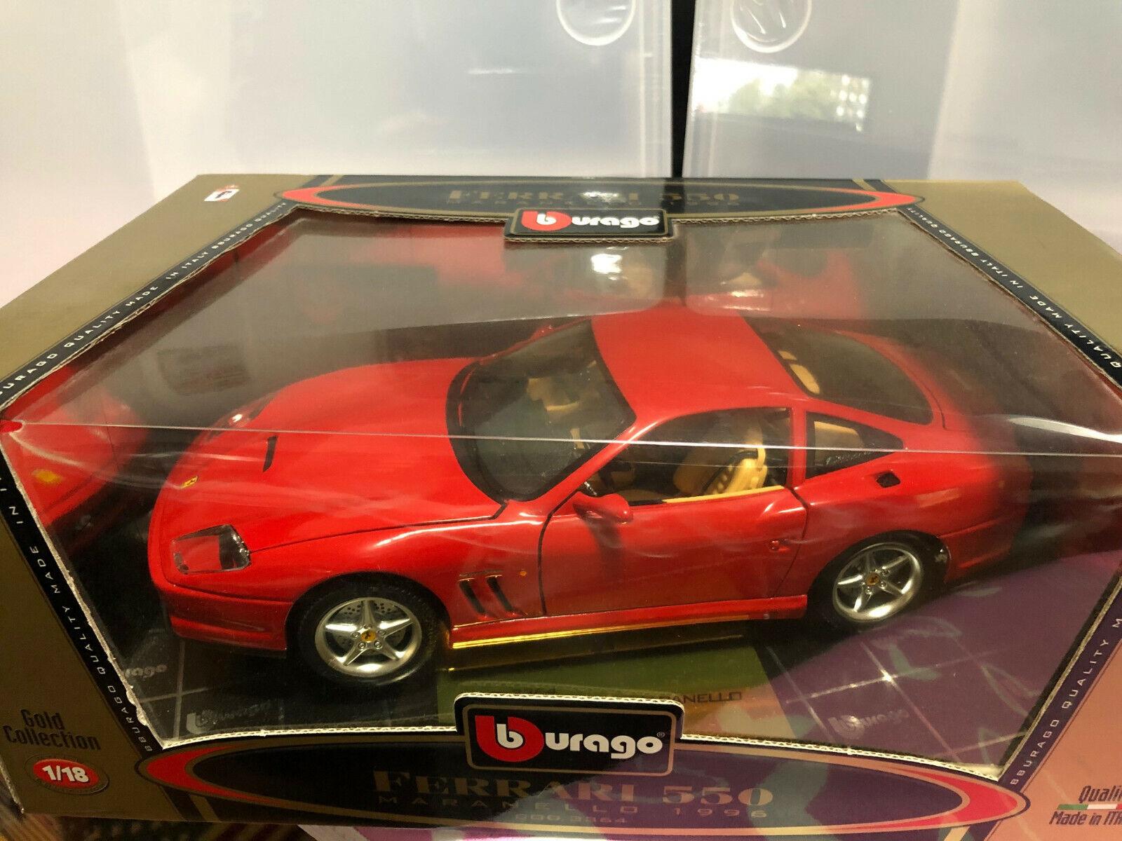FERRARI 550 MARANELLO MARANELLO MARANELLO Burago 3364 1 18 scale or edition rouge Diecast 1996 3d2ba4