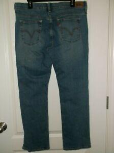 Levi-039-s-505-Red-Tab-Women-039-s-Size-14S-Straight-Leg-Jeans-Stretch-Medium-Blue-Wash