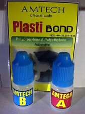 POLYPROPYLENE  POLYETHYLENE  adhesive. Very strong bond.  Polyethylene glue
