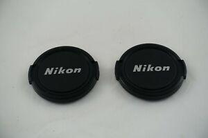 Two Vintage Genuine Nikon NIKKOR 52mm Snap-on Front Lens Cap Japan (#1553)