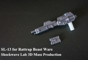 Transformers-Shockwave-Lab-SL-13-Rattrap-Weapon-upgrade-kit-In-stock//