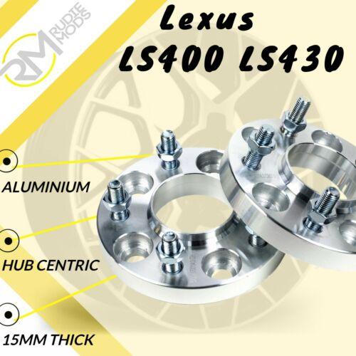 LEXUS LS400 LS430 5x114.3 60.1 15mm Hubcentric Rueda Espaciadores 1 Par