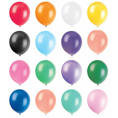 25 - 100 New Metallic Latex Balloons Helium LARGE High Quality Wedding Pearlised