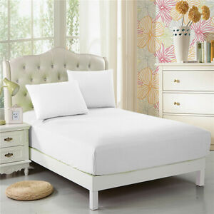 CC-amp-DD-Fitted-Sheet-100-Microfiber-Luxury-Super-Silky-Soft-Deep-Pockets-White