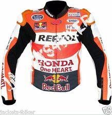 HONDA REPSOL MOTORCYCLE LEATHER JACKET MEN BIKER JACKET MOTORBIKE LEATHER JACKET